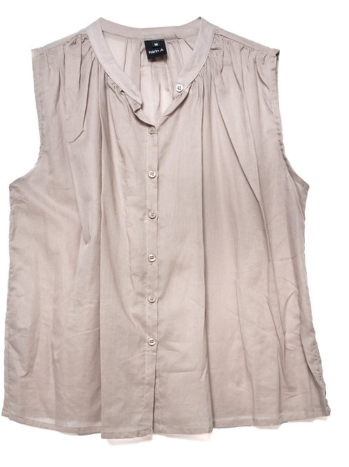 Sleeveless Buttoned Down Top