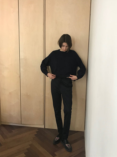 Dark Blue Drawstring Pants