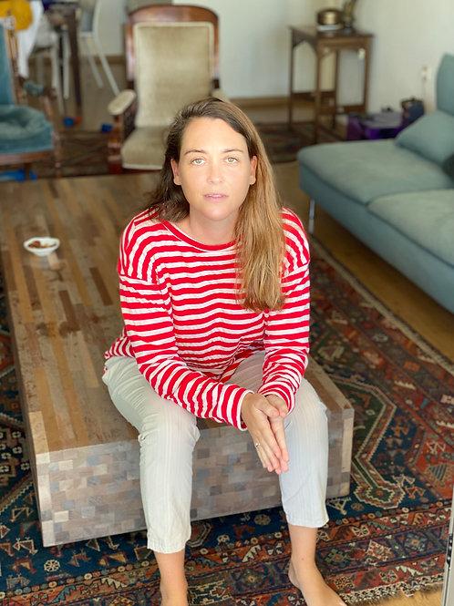 Red Stripes Sweatshirt
