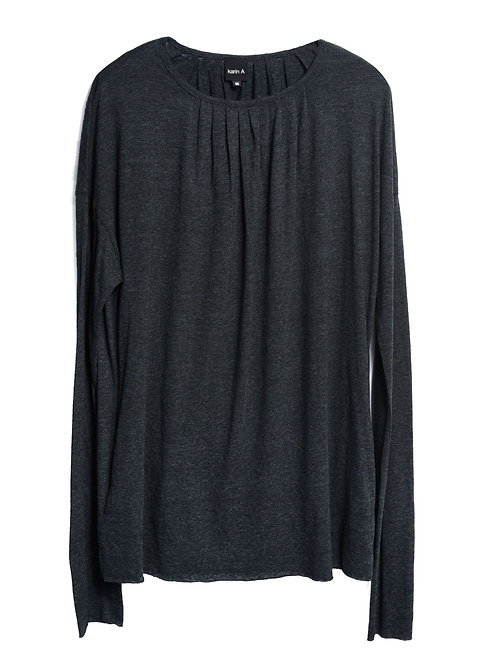 Pleated Long Sleeved T-shirt