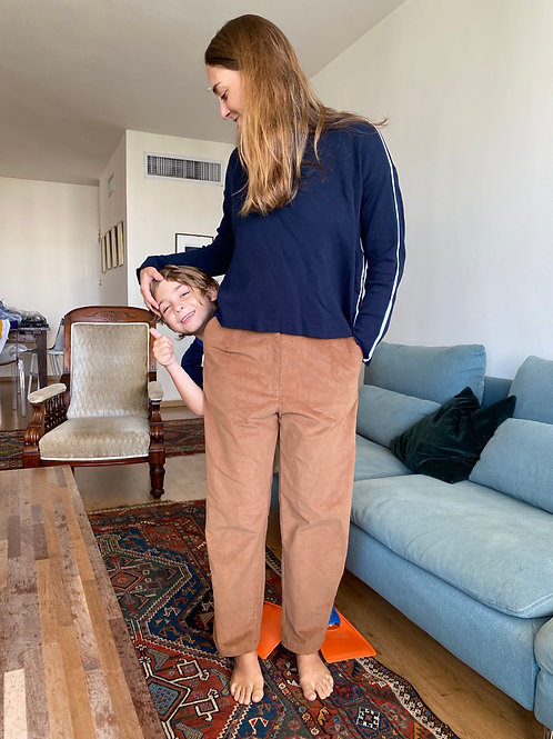 Corduroy Pleated Pants