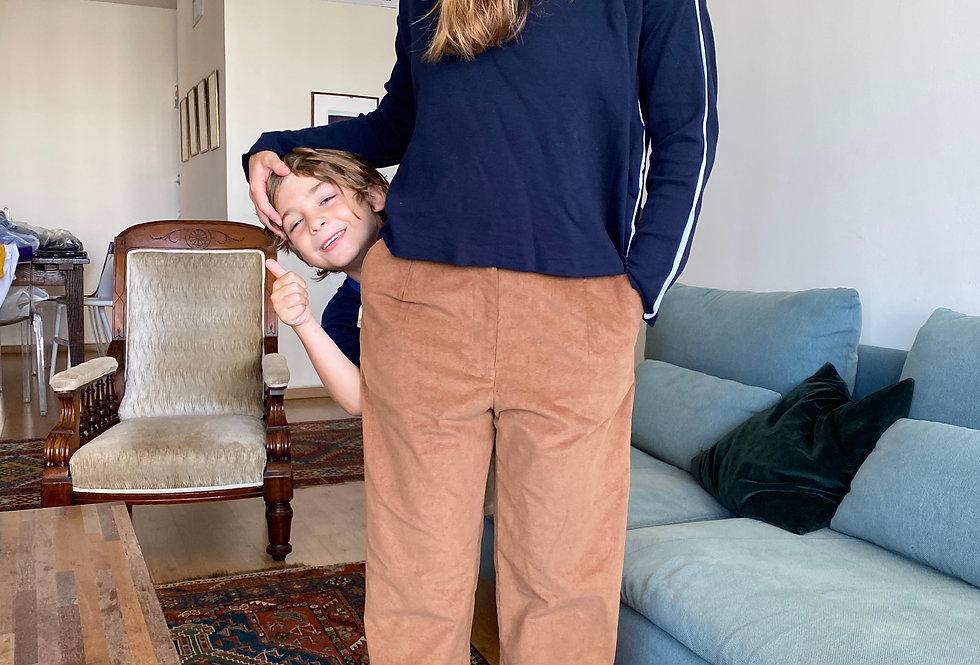 Corduroy Pleated Pants