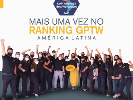 GPTW América Latina 2021 - Reconhecimento Grupo Levvo