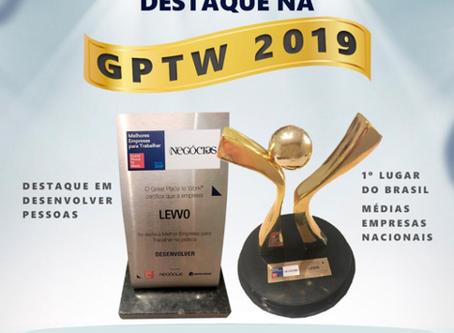 LEVVO é eleita a Primeira empresa para se trabalhar na categoria média do Brasil pela GPTW e Revis