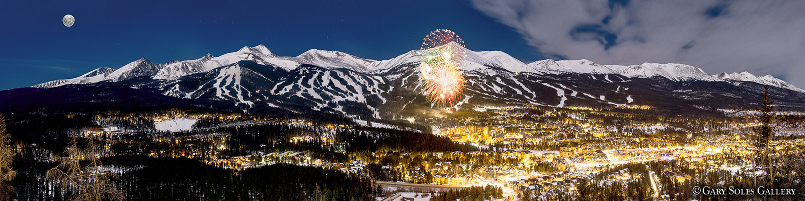 Full Moon over Breckenridge New Year 201