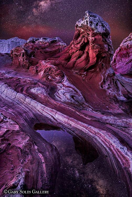 The Hoodo, milkyway, nightscape, reflection, arizona, vermilion cliffs