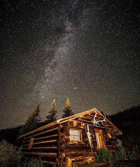 antler cabin, mount baldy, breckenridge, colorado, gary, soles, gallery, milkyway, night photography