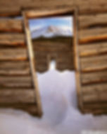 winter cabin doors, aspen, colorado, gary soles, gary soles gallery, film photography, mining cabin doors