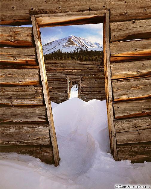 winter cabin doors, aspen, colorado, gary soles, gary soles gallery, film photography, mining cabin doors