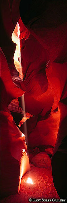 antelope canyon, vertical canyon light, arizona, slot canyon, gary soles, gary soles gallery, breckenridge, colorado