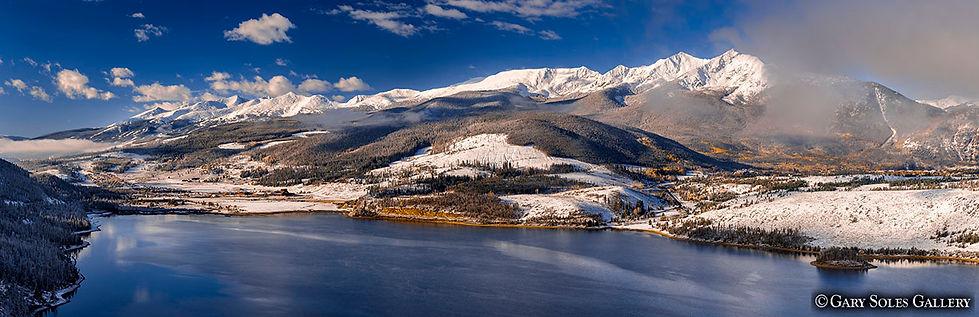 Sapphire Fall Pano, summit county colorado, lake dillon, frisco, peak one, peak two, 10 mile range
