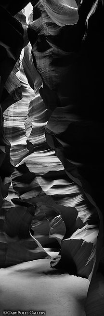 Antelope canyon, slot canyon, arizona, black and white, gary soles gallery, gary soles,