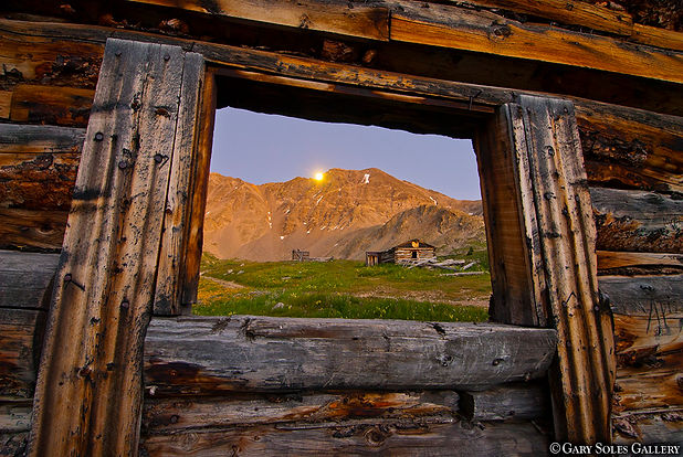 moonrise over mayflower, mayflower gulch, gary soles gallery, gary soles, breckenridge, colorado