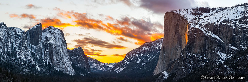 Firefall Pano, firefall, yosemite, el cap, granite, rock, light event, yosemite