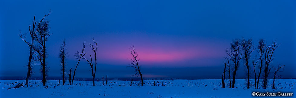 winters dawn, wyoming, sunrise, alpenglow, tetons, gary soles, gary soles gallery, photoraphy