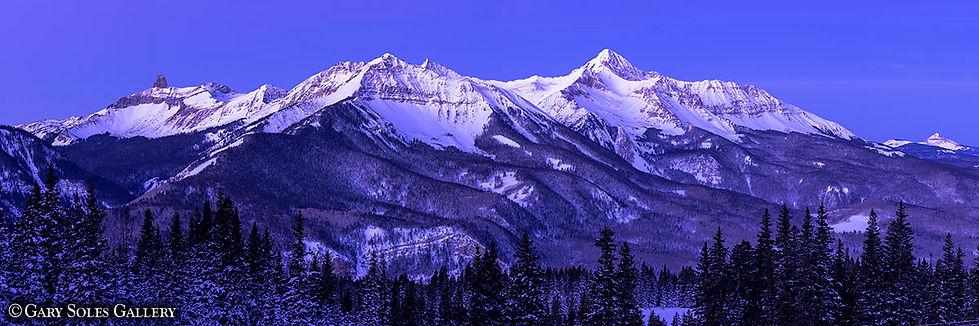 Gary soles, Gary soles Gallery, lizard head, sunshine, wilson peak, telluride, colorado, panoramic, alpenglow,