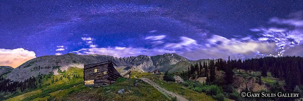 Mayflower Milkyway, mayflower gulch, milkyway panoramic, colorado summer night