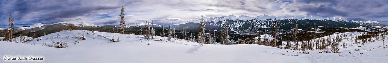 westen sky ultra pano, breckenrige, colorado, winter breckenridge, winter panoramic, gary soles gallery, gary soles