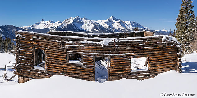 alta cabin, telluride, colorado, mining structure, ghost town, gary soles, gary soles gallery