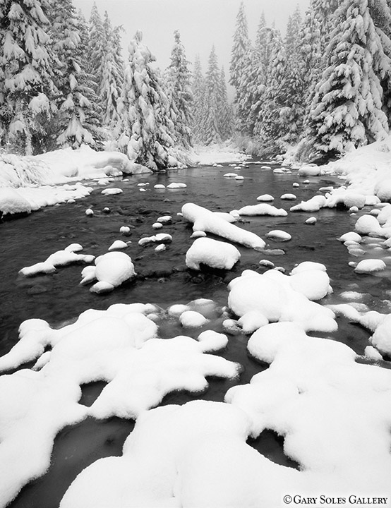 Blue River Snow BW