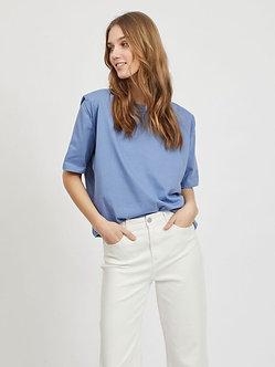 Vishoulde blue top