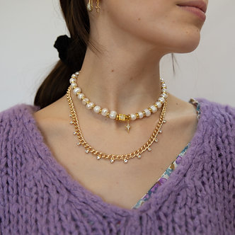 Enayim-Collier Pampille strass