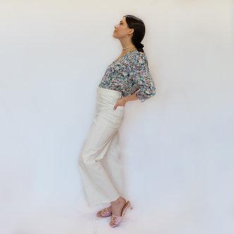 FAM Jeans -Fauve white