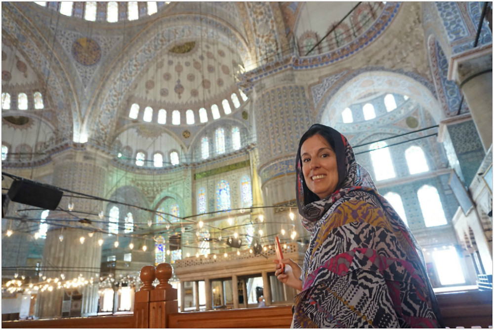 Me at the Blue Mosque - Istanbul - Turkey [photo courtesy of B. Ketcheson]