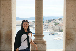 Me + view of Split Harbor - Croatia