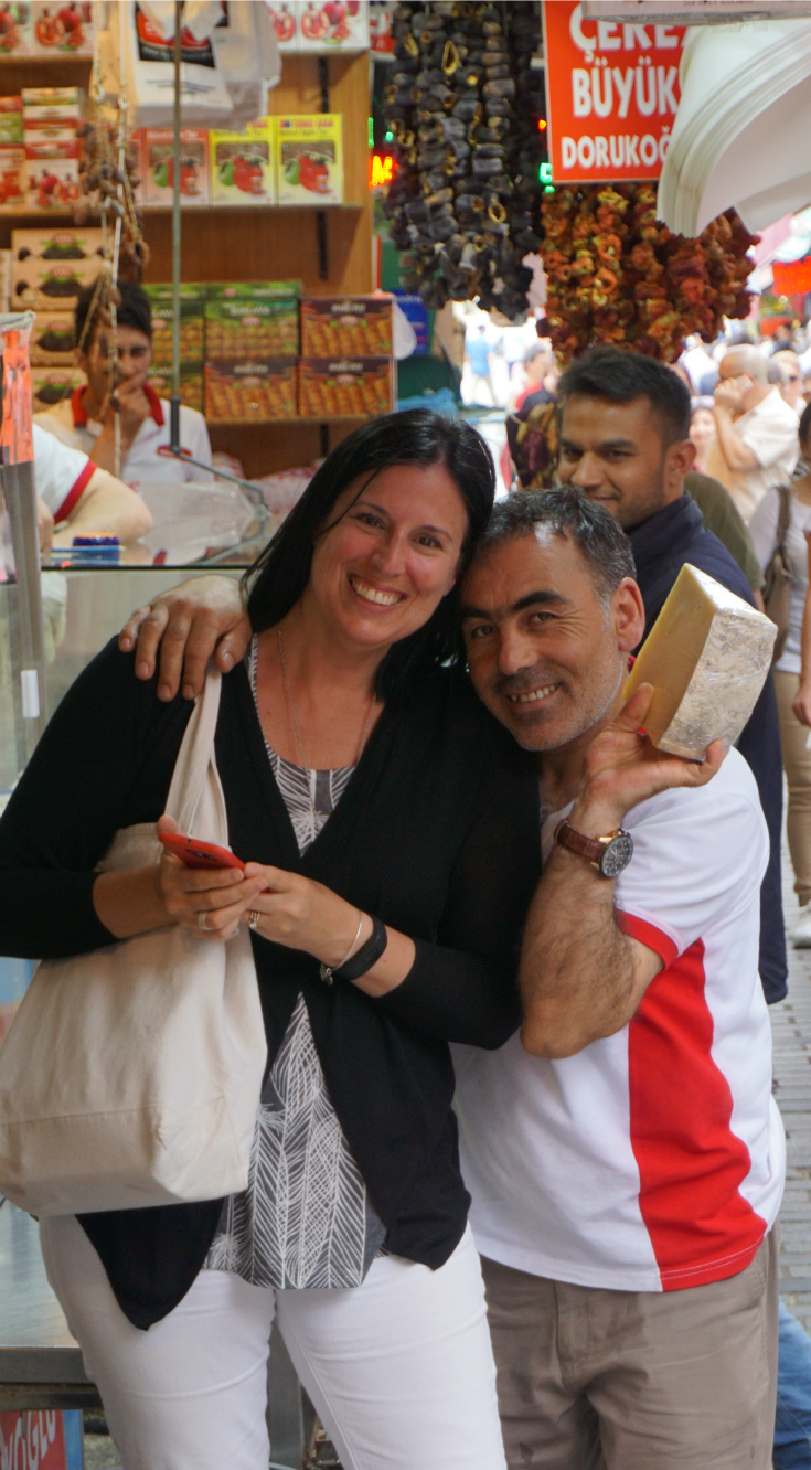 Me [Cora] and cheese monger - Istanbul - Turkey