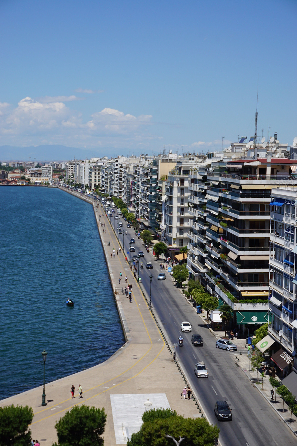 Waterfront promenade as seen from The White Tower - Thessaloniki - Greece