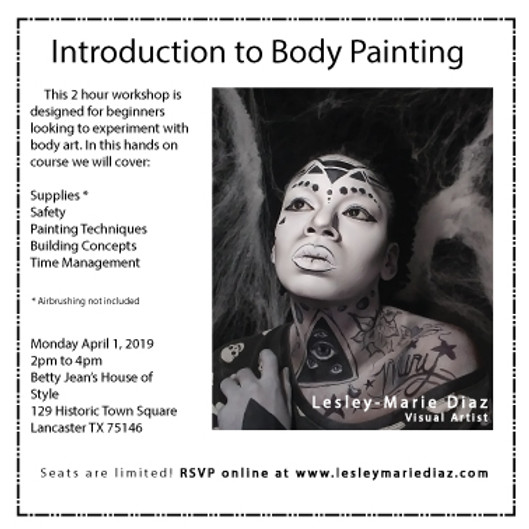 Introduction to Body Painting