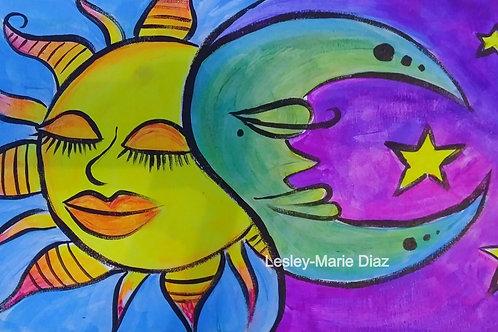 """""""Sun And Moon"""" Neon Paint Kit"""