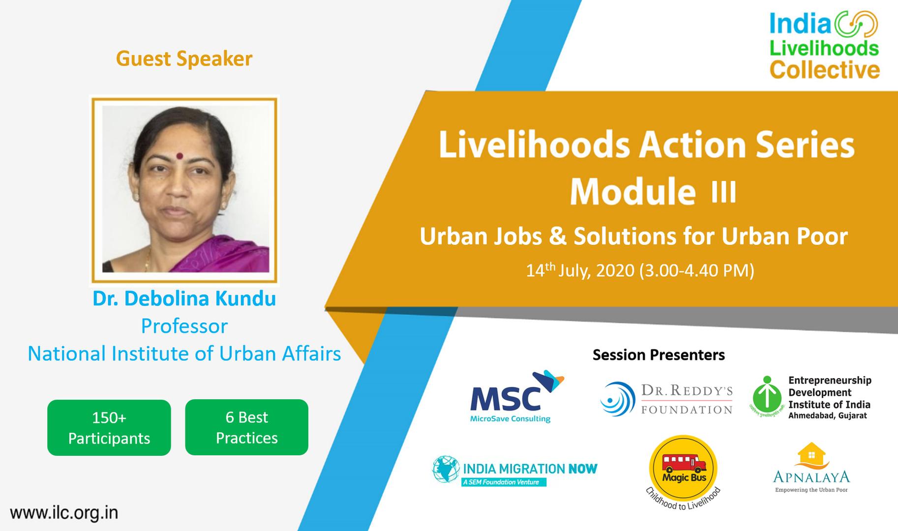 Urban Jobs & Solutions for Urban Poor