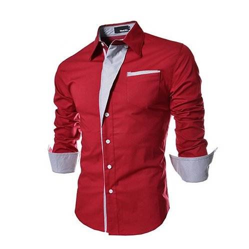 RED DRIP DAPPER DON BUTTON UP