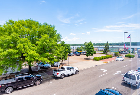 Paducah Riverfront Event Parking and View