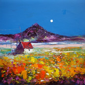 An Autumn Moonrise, Isle of South Uist
