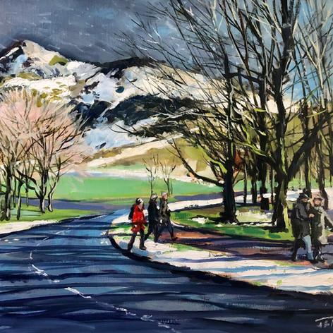 Winter, Holyrood Park