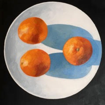'Oranges with Blue Shadows' by David Palmer