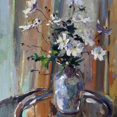Japanese Anemones & Vase
