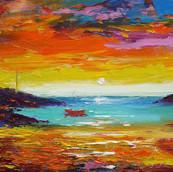 Sunrise Over Earsary, Isle of Barra