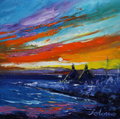 Stormy Eveninglight, Mannal, Isle of Tiree