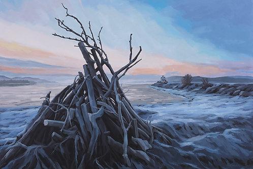 'Winter Bonfire, Clachnaharry' by Ian Holman