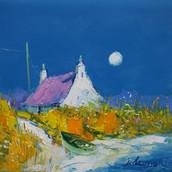A Summer Moonrise, Isle of Benbecula