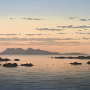 Rum from Arisaig, Dusk