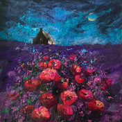 Blue Moon and Poppies