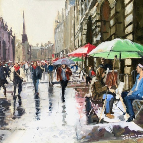 Rainy Day on the Royal Mile