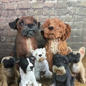 Olivia Brown's Handbuilt Doggies