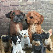 Olivia Brown's Handbuilt Doggies