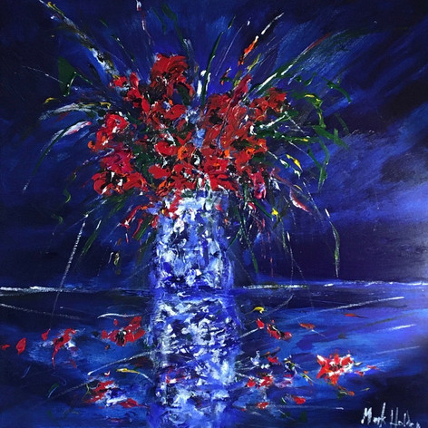 Blues and Reds Still Life